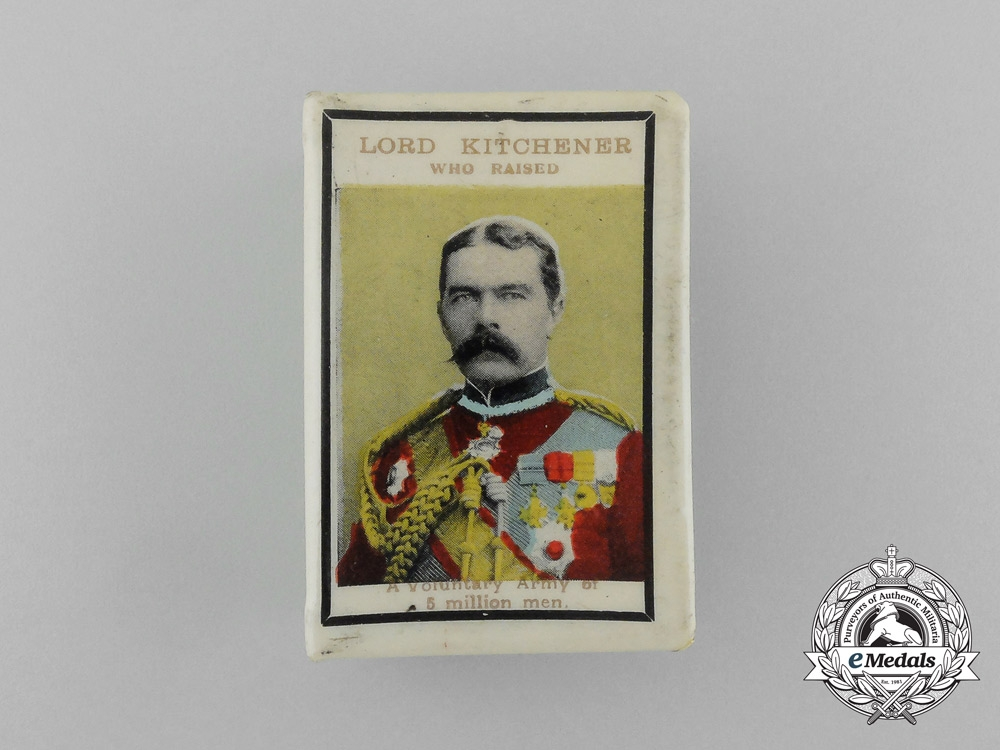 eMedals-A First War Lord Kitchener Commemorative Matchbox Cover