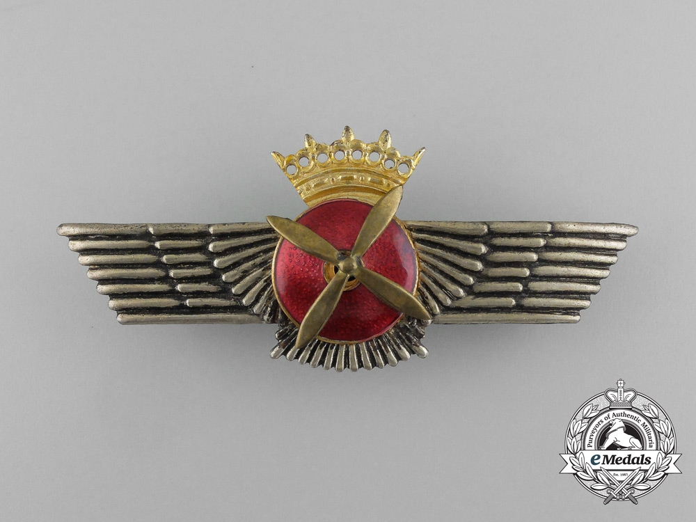 eMedals-A Spanish Air Force (Ejército del Aire) Pilot Badge, Franco Era (1936-1975)