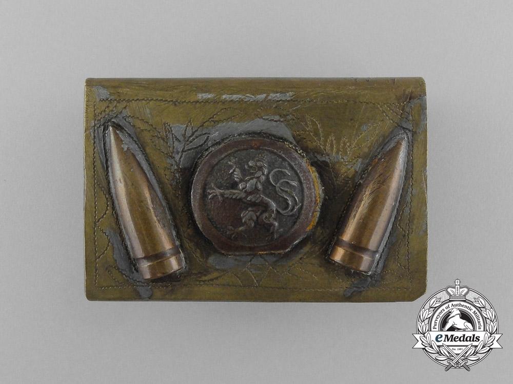 """eMedals-A First War German """"Souvenir"""" Matchbox Cover"""