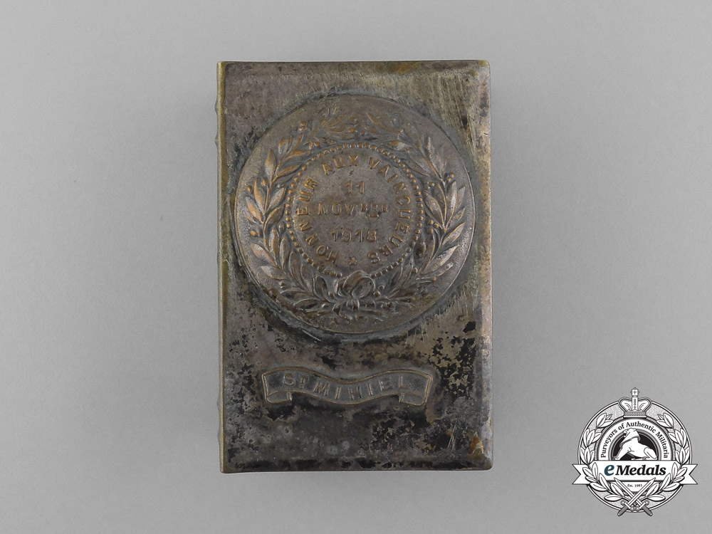 """eMedals-A First War German """"Honour to the Winners/St. Mihiel"""" Matchbox Cover 1918"""