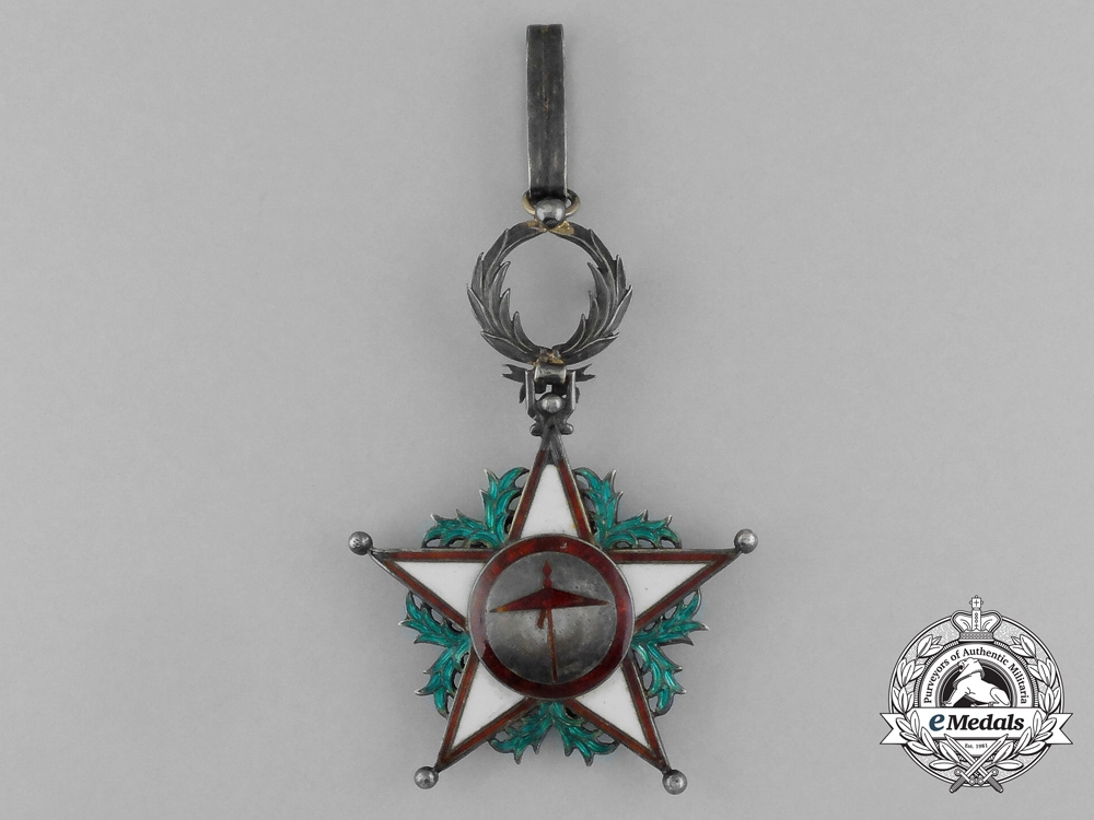 eMedals- Morocco, French Protectorate. An Order of Ouissam Alaouite, 3rd Class Commander, by Arthus Bertrand, c.1940