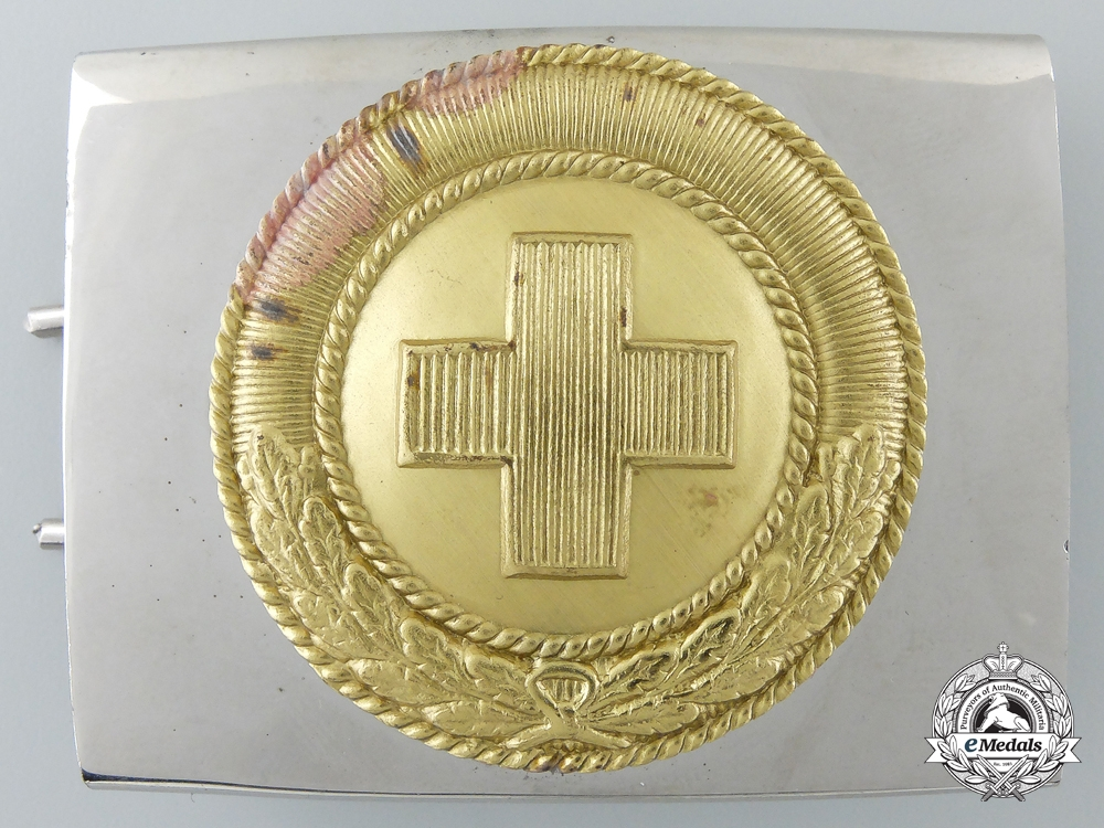 eMedals-Germany. A Red Cross Man's Belt Buckle; Published Example, c.1933