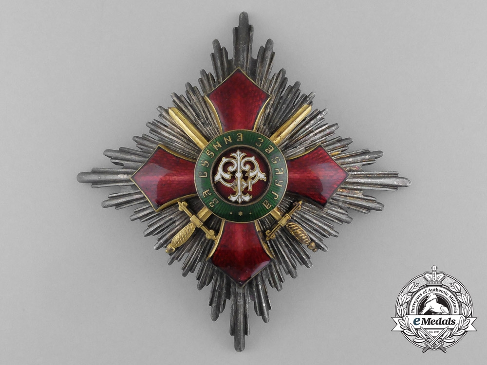 eMedals-Bulgaria, Kingdom. An Order of Military Merit, I Class Grand Cross with Swords, c.1914
