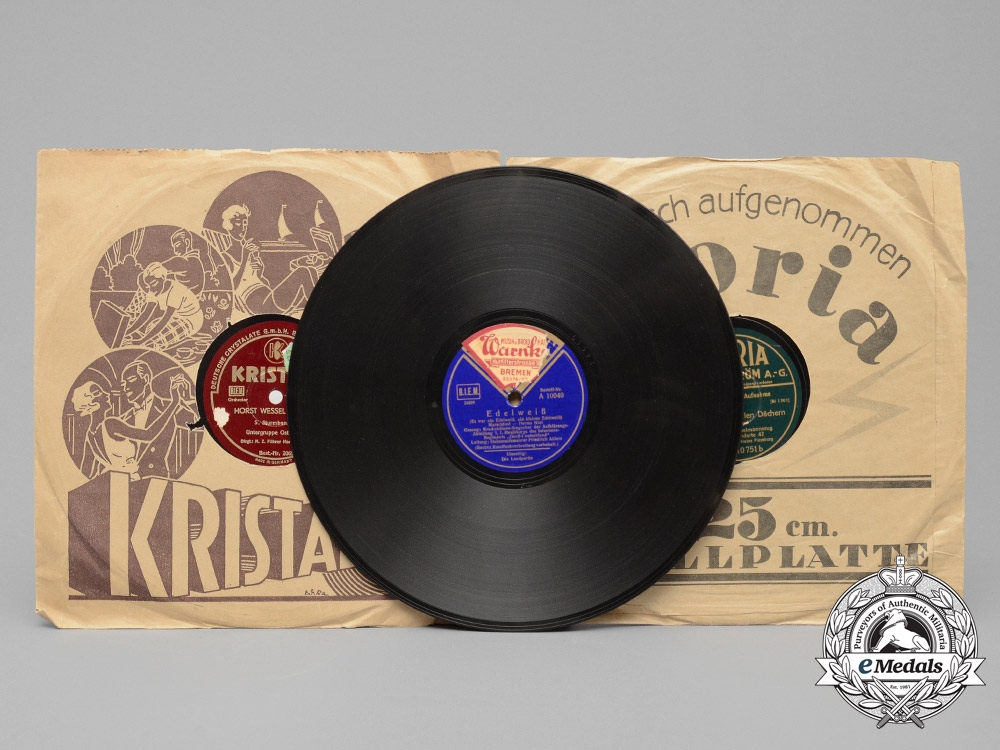 eMedals-Three Second War German Marching Song Vinyl Records