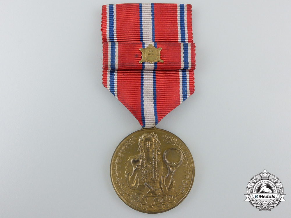 eMedals-A Slovakian Commemorative Medal for Loyalty and Defence Capacity 1918-1938
