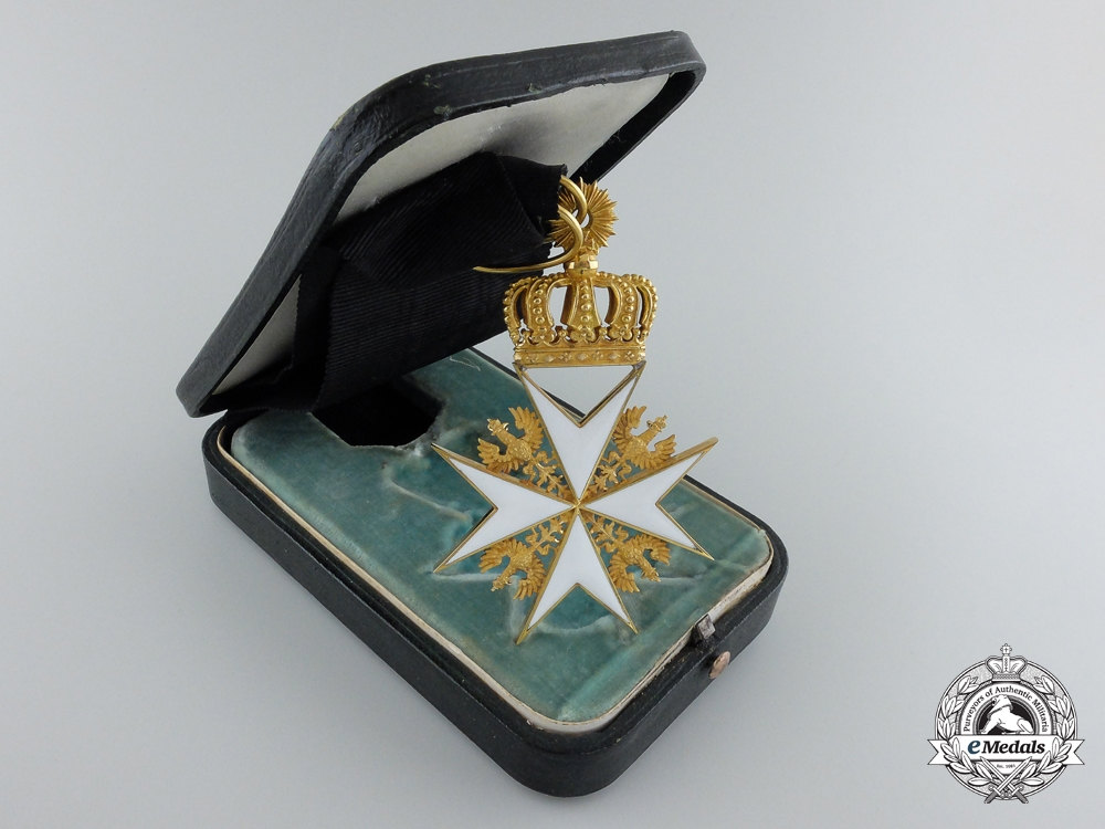 eMedals-A Prussian Order of St.John; Cross of the Legal Knights in Gold by Gorge Hofsaner