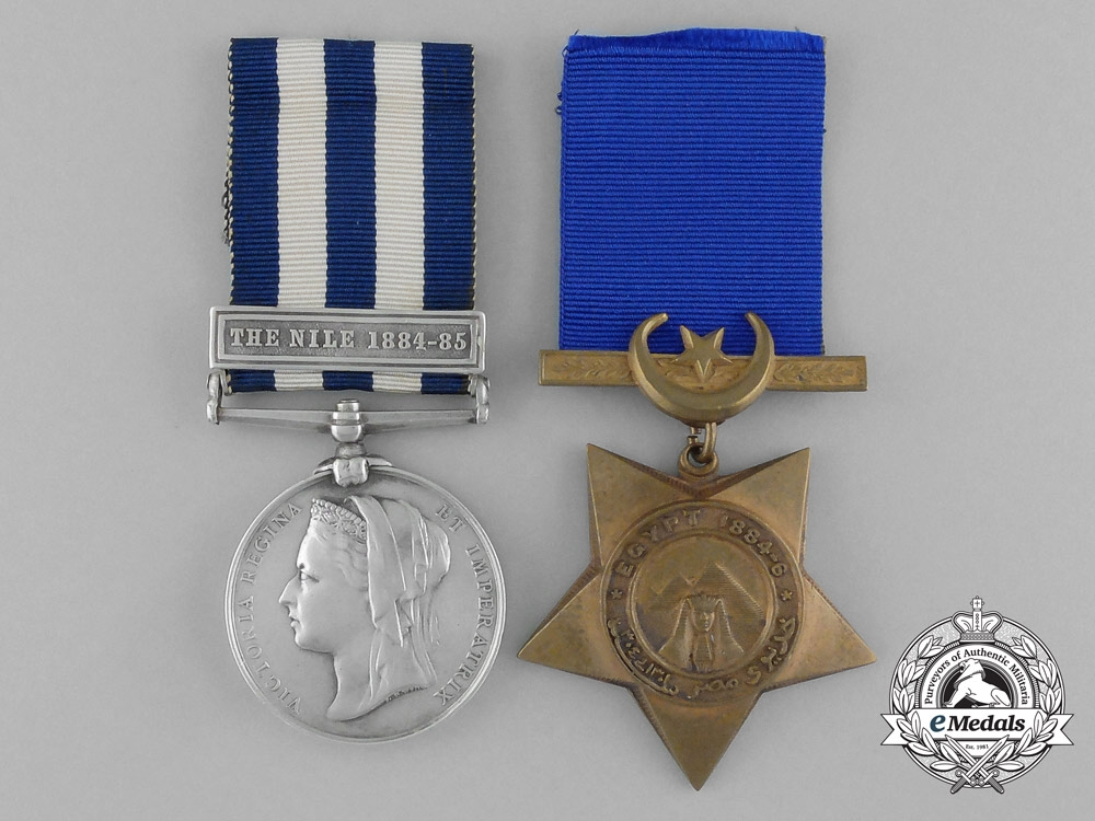 eMedals-United Kingdom. An Egyptian Campaigns Pair to Boatman A. McDonald; Manitoba Contingent