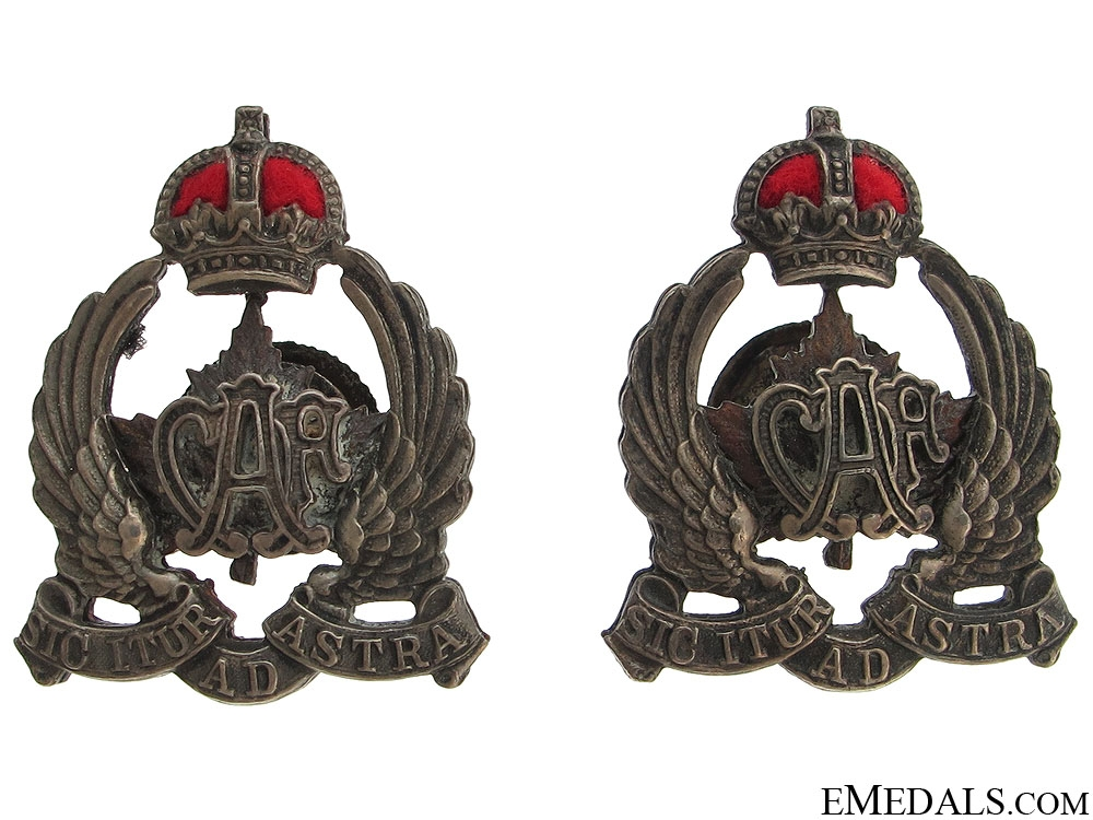 eMedals-Early Canadian Air Force Collar Badges