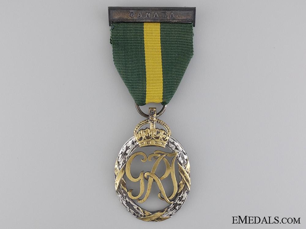 eMedals-Efficiency Decoration to Major J.E. Grandmont
