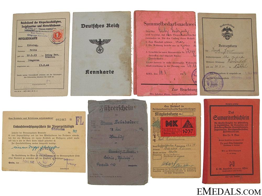 eMedals-Eight German Third Reich Documents
