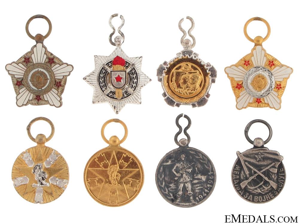 eMedals-Eight Yugoslavian Miniatures