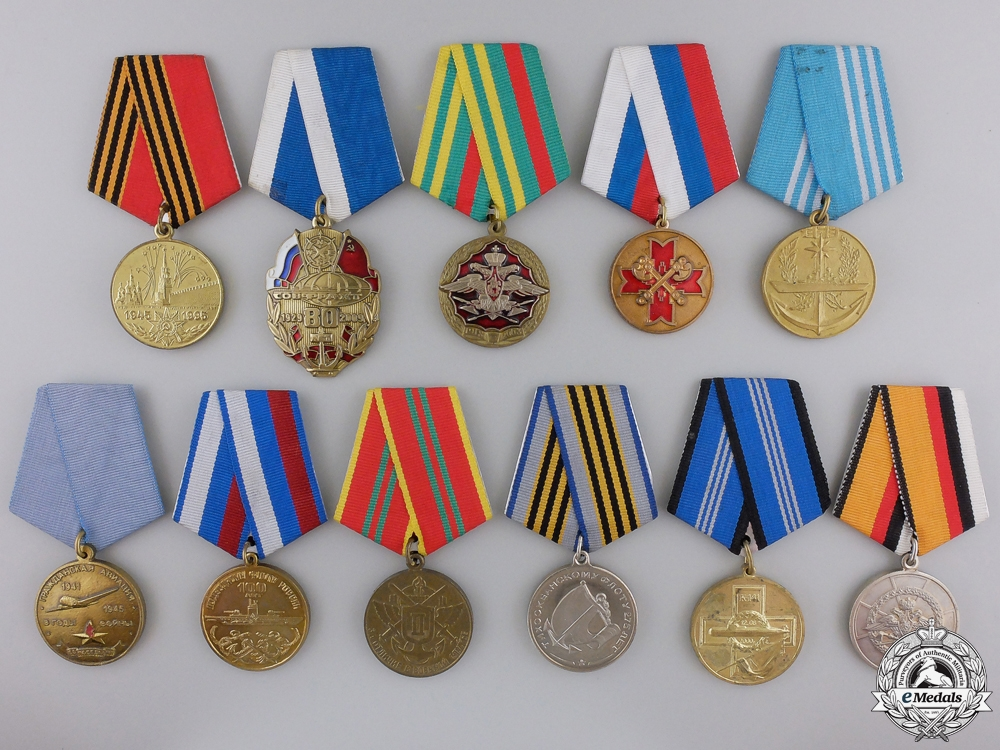 eMedals-Eleven Russian Federation Medals & Awards