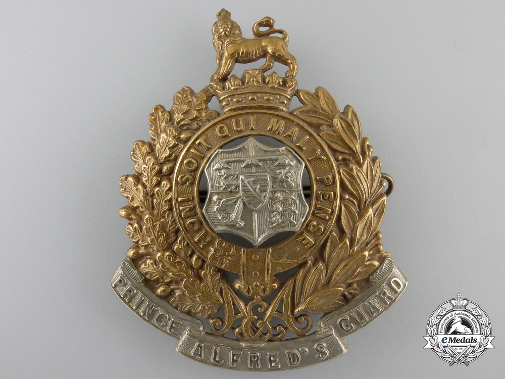 eMedals-A South African Prince Alfred's Guard Helmet Plate