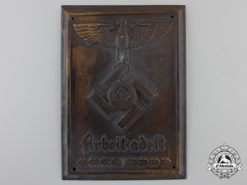 eMedals-An RAD Reich Labor Service Plaque