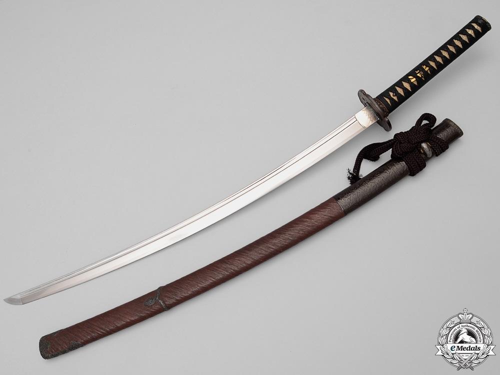 eMedals-An Edo Period Sword byHizen no Kuni Ju Omi no Daijo Fuji-wara Tada Hiro
