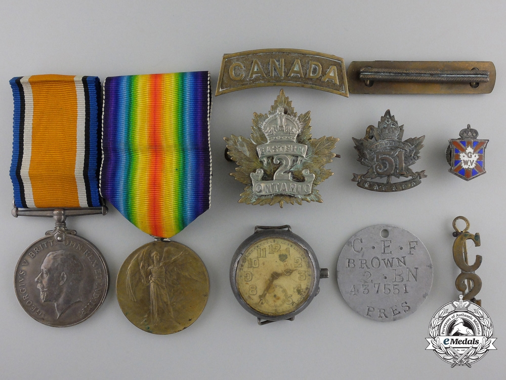 eMedals-A First War Group to the 2nd Canadian Infantry Battalion; Wounded on Vimy