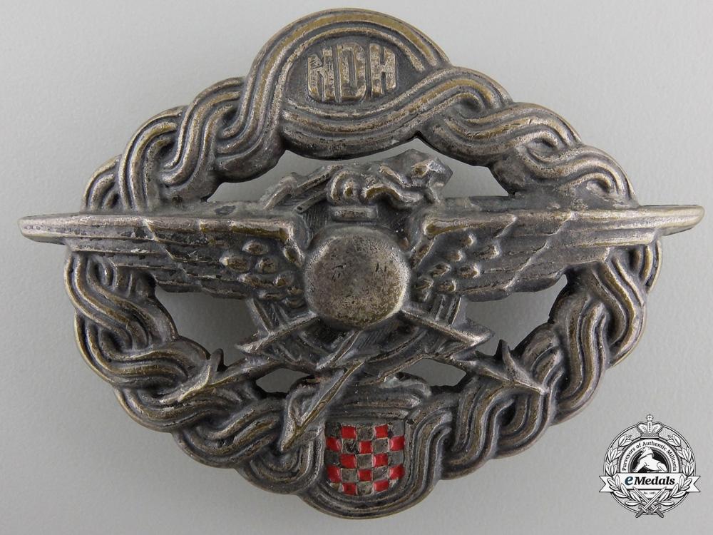 eMedals-A Second War CroatianAir Gunner & Radio Operator Badge