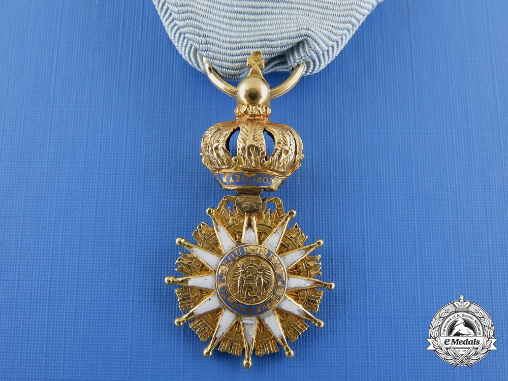 eMedals-A Miniature French Napoleonic Order of the Reunion in Gold