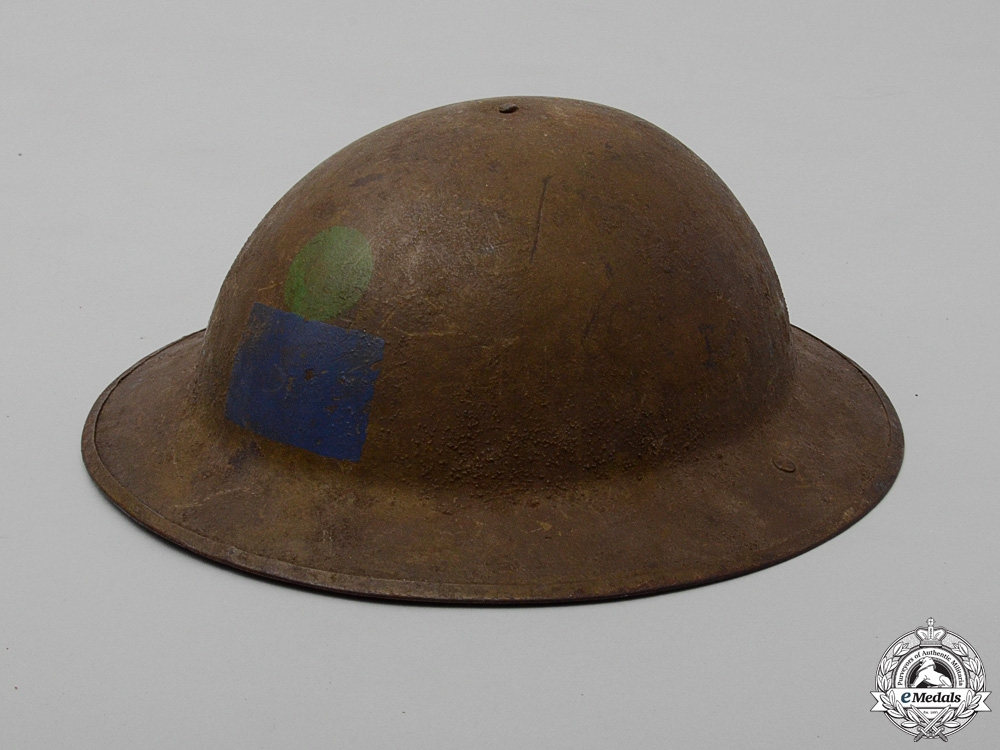 eMedals-A Mark II 18th Canadian Infantry Battalion Helmet