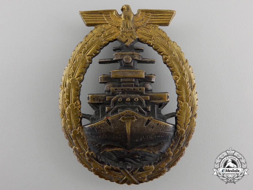 eMedals-A Kriegsmarine High Seas Fleet Badge by Schwerin, Berlin
