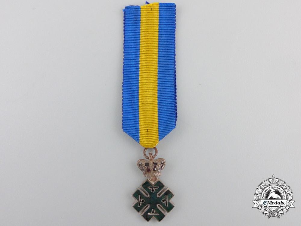 eMedals-A Miniature Romanian Order of Ferdinand I