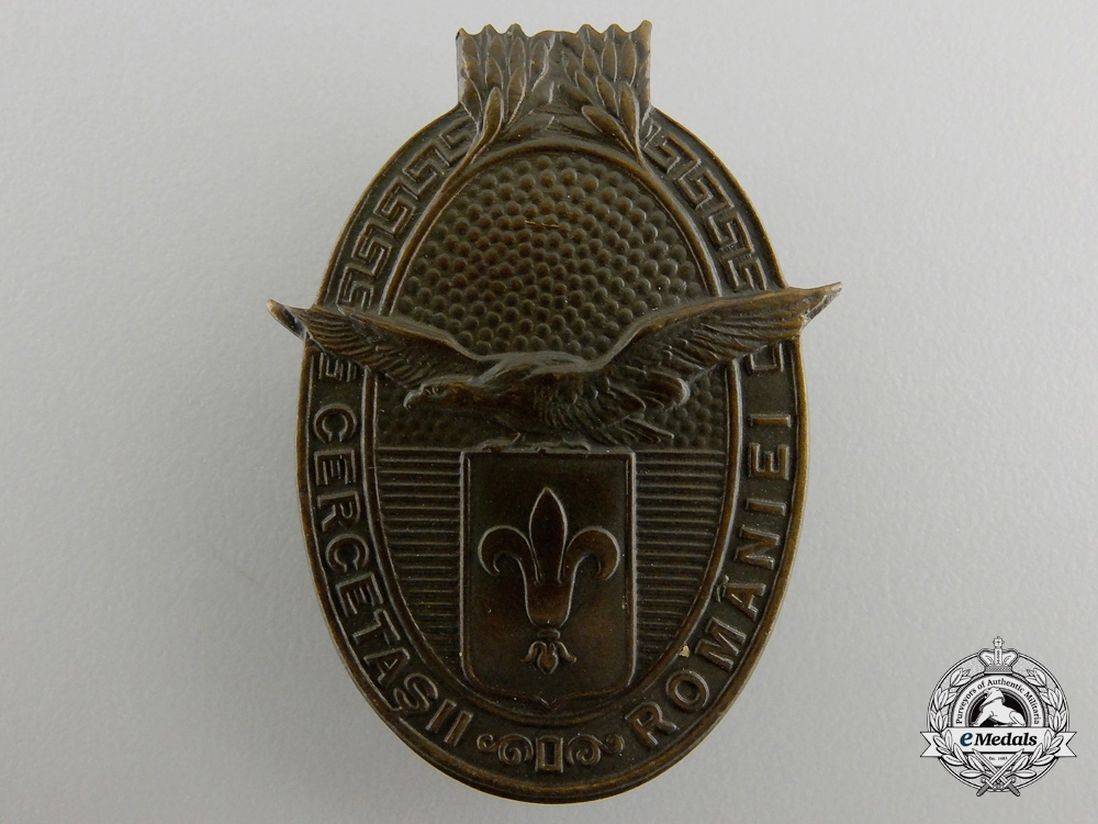 eMedals-A Pre Second War Romanian Military Scout Badge