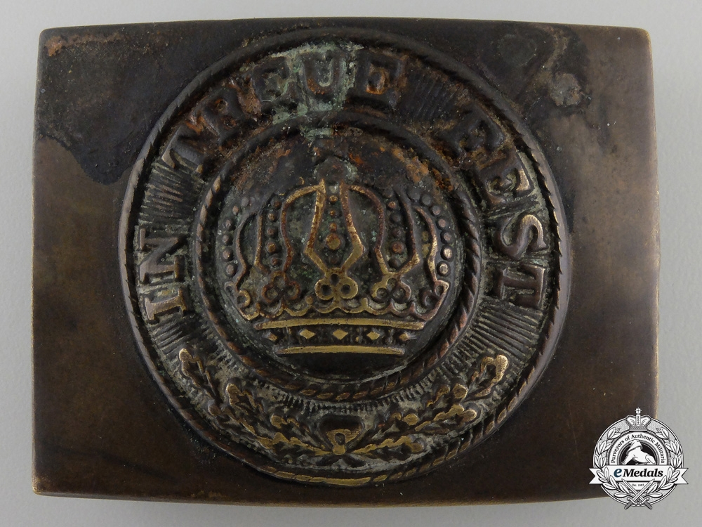 eMedals-A German Imperial EM Belt Buckle