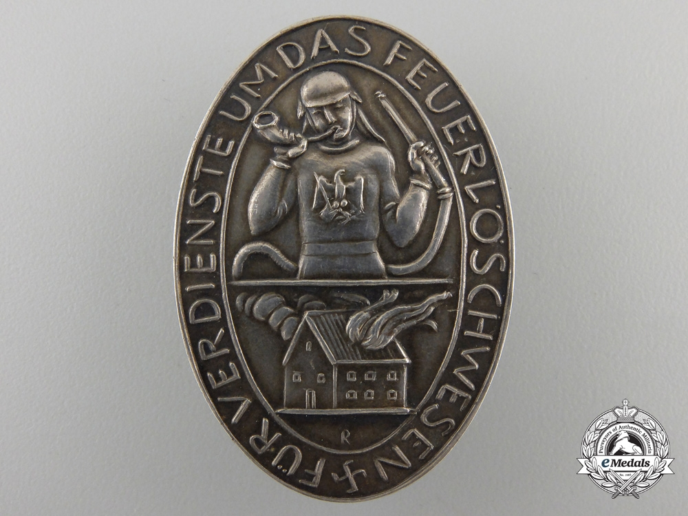 eMedals-A 1930's Prussian Fireman's Merit Award in Silver