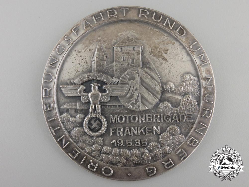 eMedals-A 1935 NSKK Nurnburg Franconia Motor Brigade Award