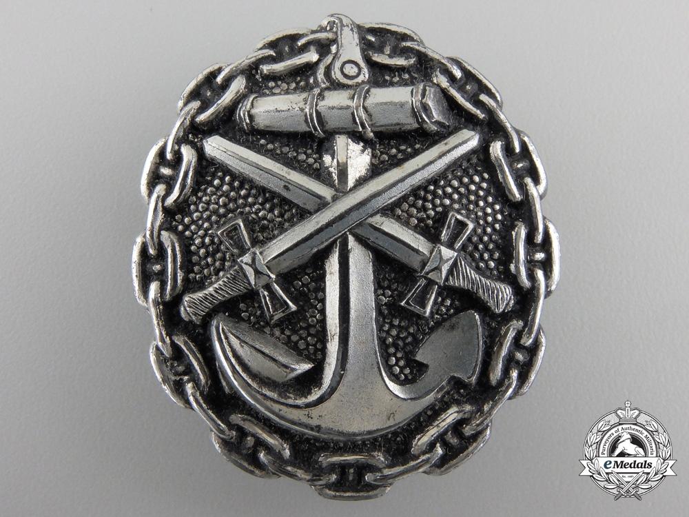 eMedals-A First War Naval Wound Badge; Silver Grade