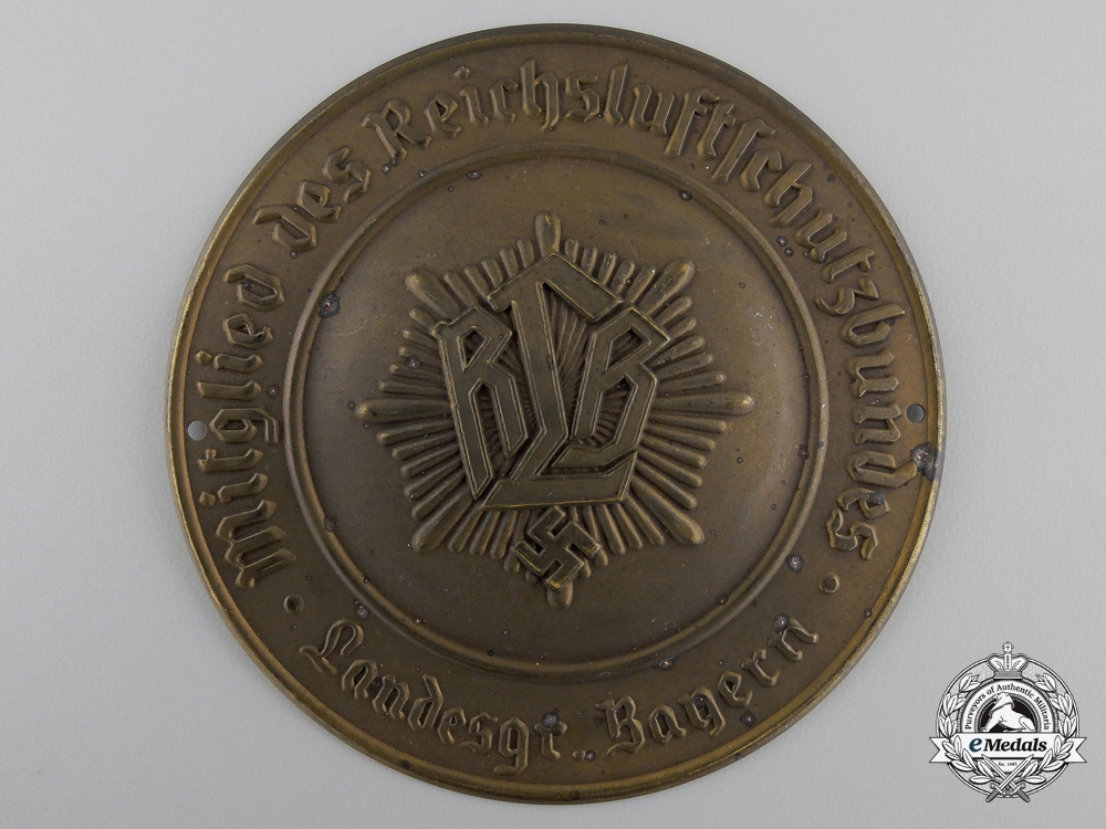 eMedals-A Reich Air Protection Association Door Plaque