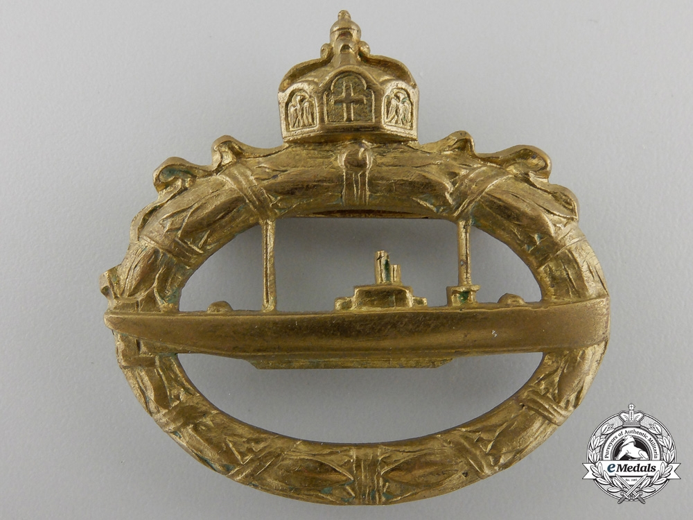 eMedals-A First War German Imperial Naval Submarine Badge
