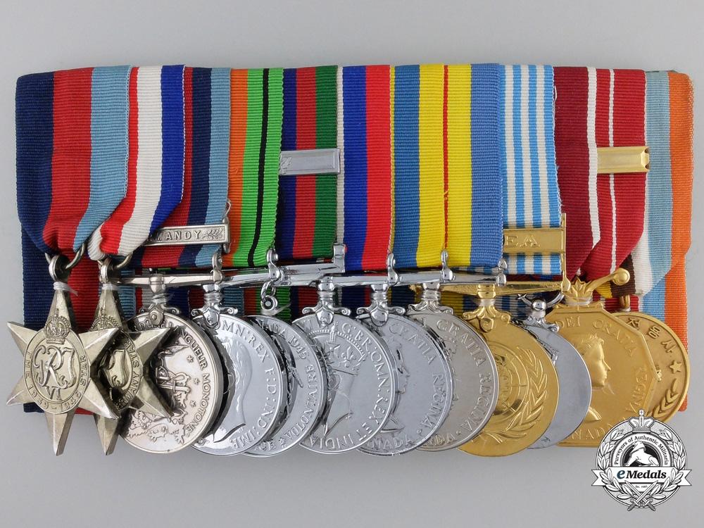 eMedals-A Second War Normandy Participant & Korean Service Medal Bar