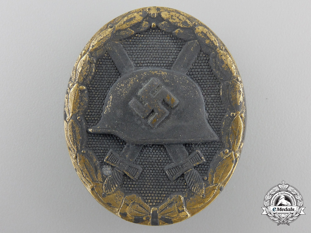 eMedals-A Gold Grade Wound Badge by Fritz Zimmermann