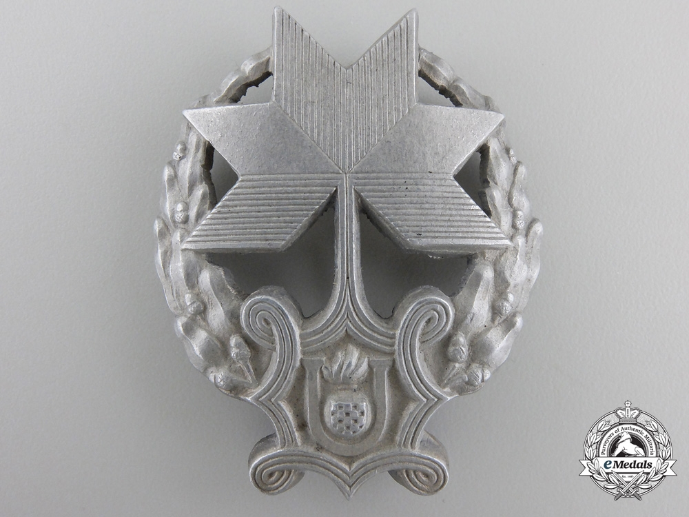 eMedals-A Rare Croatian Iron Trefoil Recipient's Badge