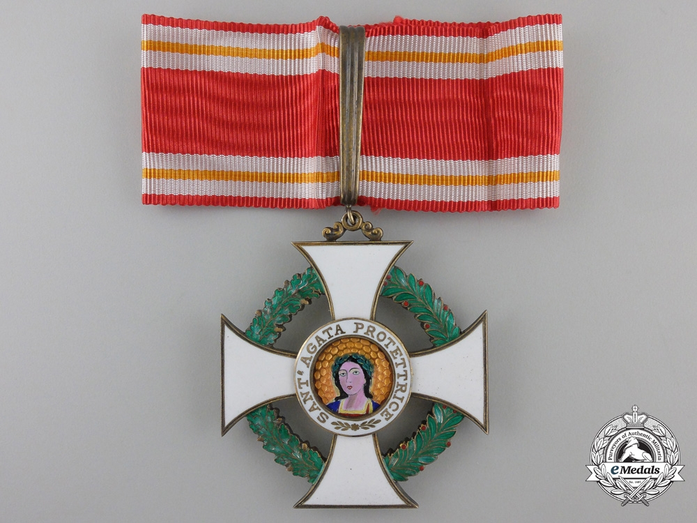 eMedals-An Order of St. Agatha of San Marino; Commander's Cross
