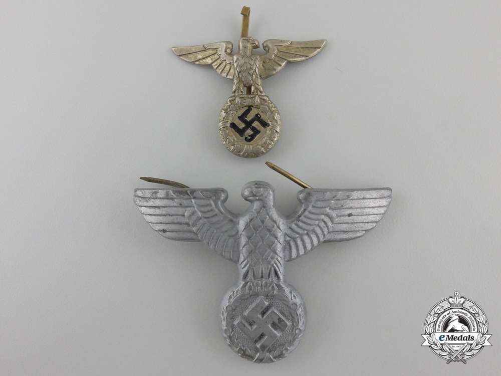 eMedals-Two Second War German Cap Eagles