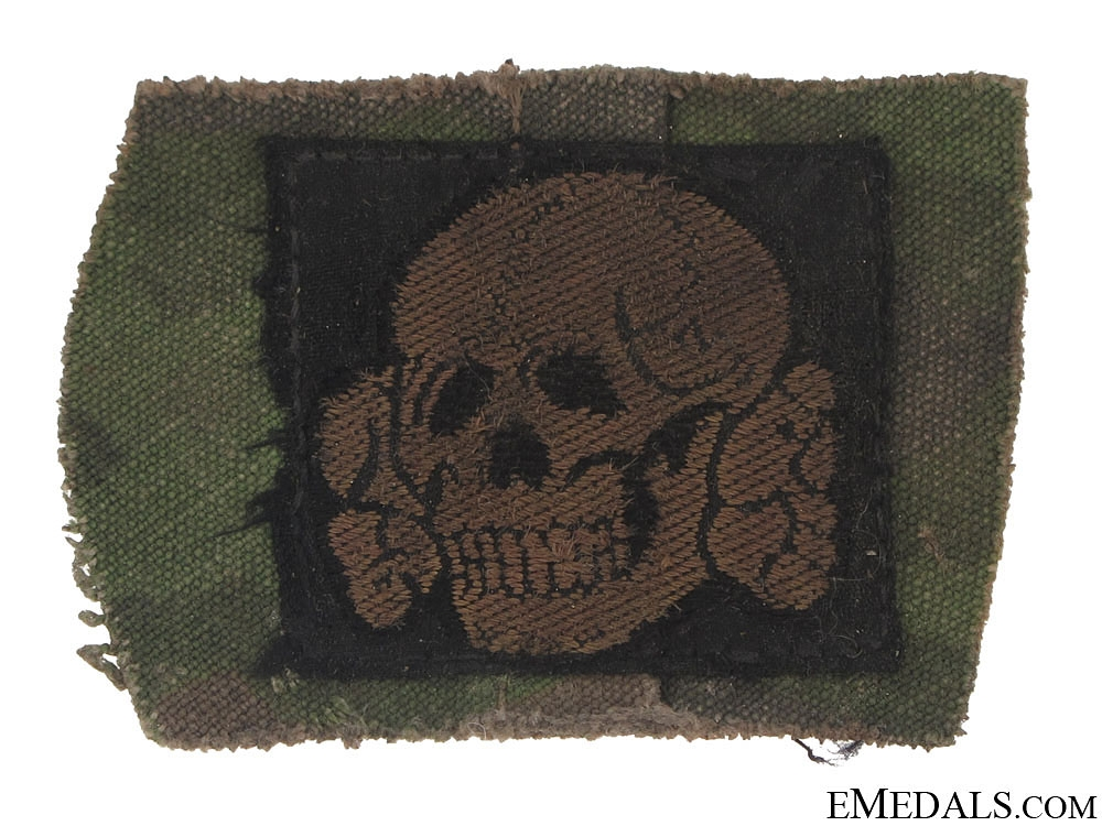 eMedals-EM/NCO's Waffen SS Camouflage Cap Insignia