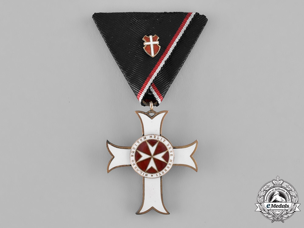 eMedals-Austria, Empire. An Order of the Knights of Malta, Merit Badge with War Decoration