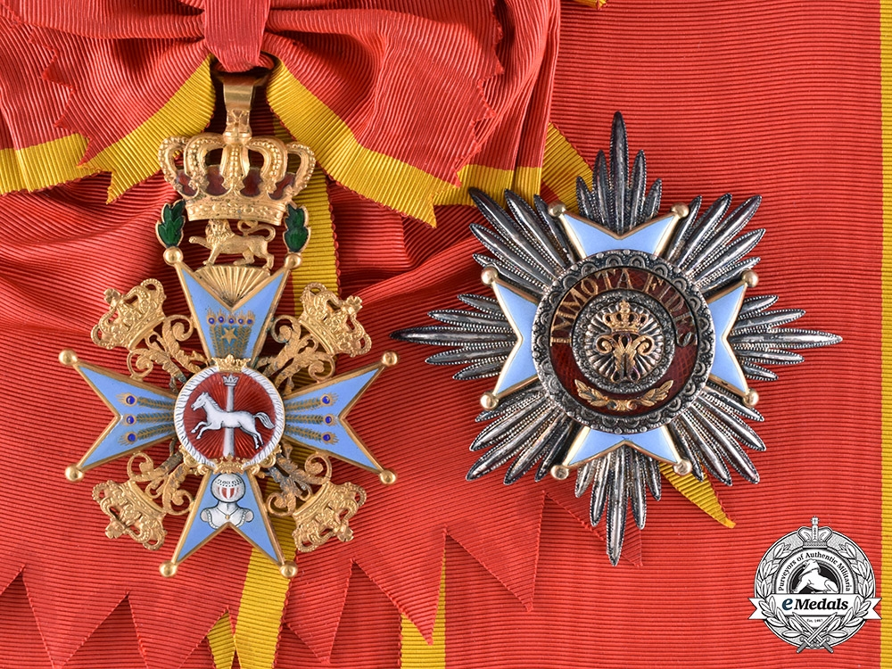 eMedals-Braunschweig, Dukedom. An Order of Henry the Lion in Gold, Grand Cross, by A. Lemme, c.1840