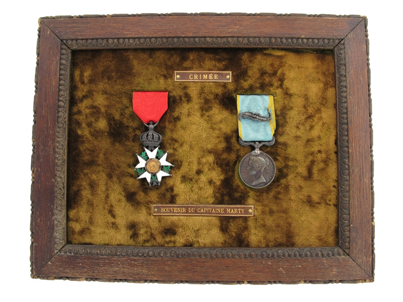 eMedals-Crimean War Medal Pair - Capitaine Marty