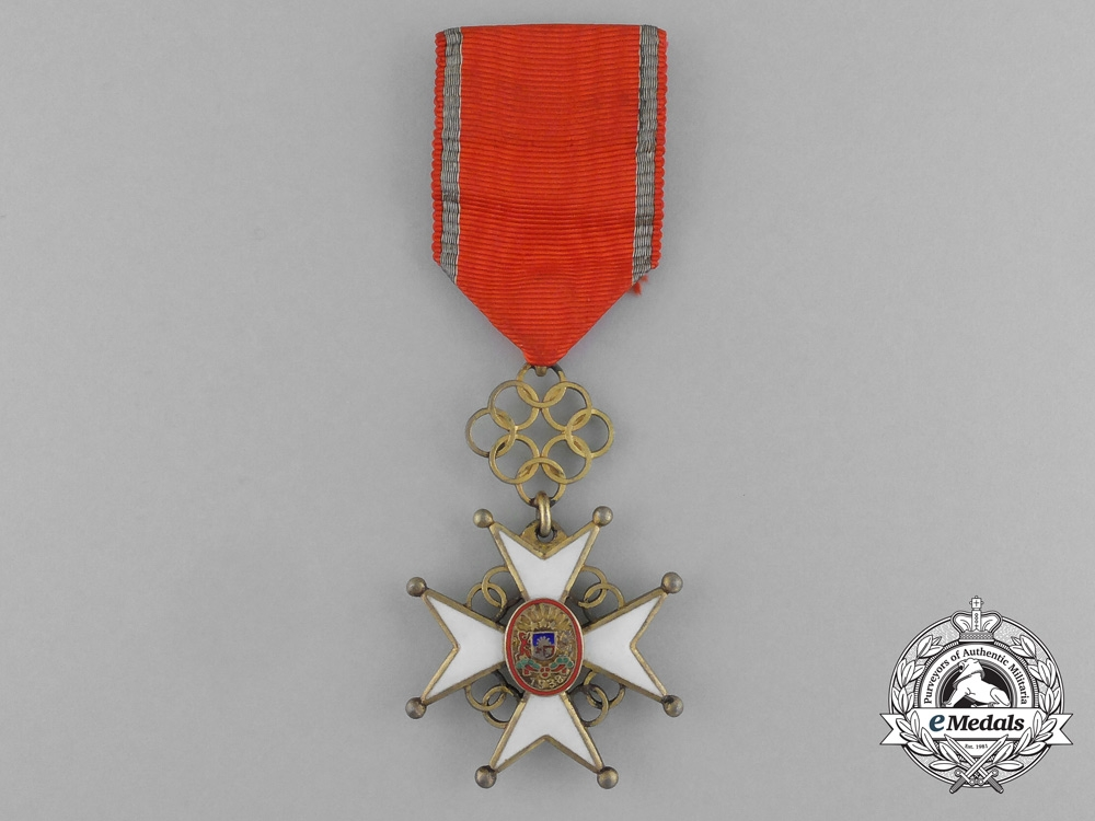 eMedals-A Latvian Cross of Recognition; 4th Class Badge 1938-1940