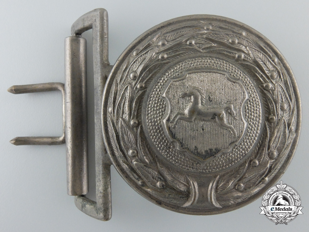 eMedals-A German Province Hannover 1930's Firefighter's Officer's Buckle