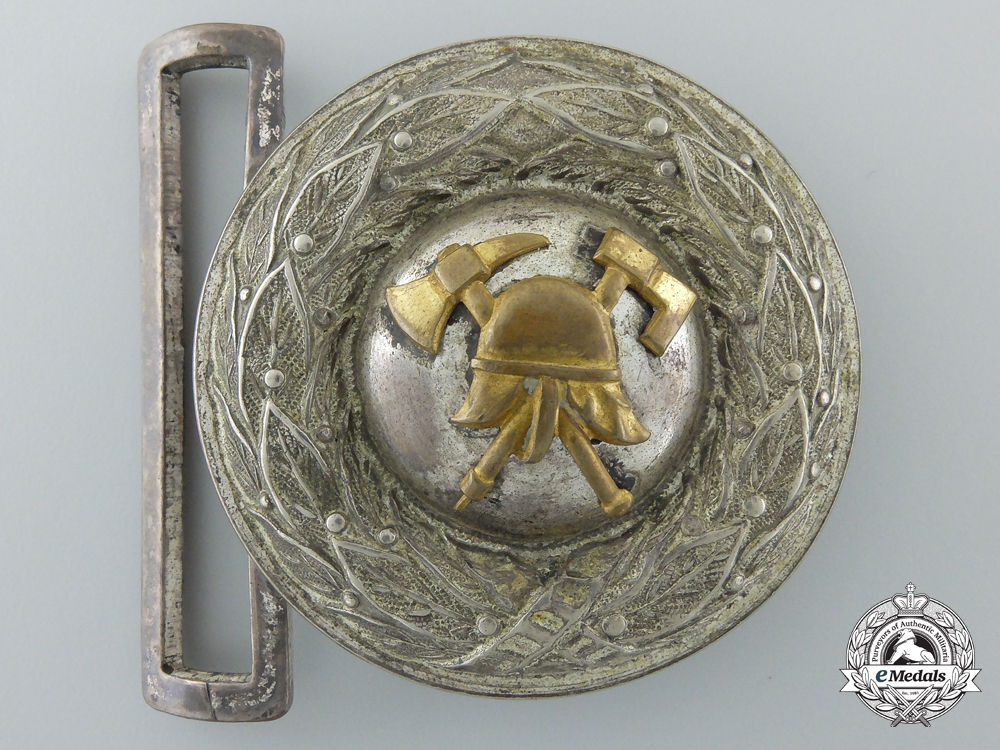 eMedals-A German pre-1934 Fire Defense Officer's Buckle