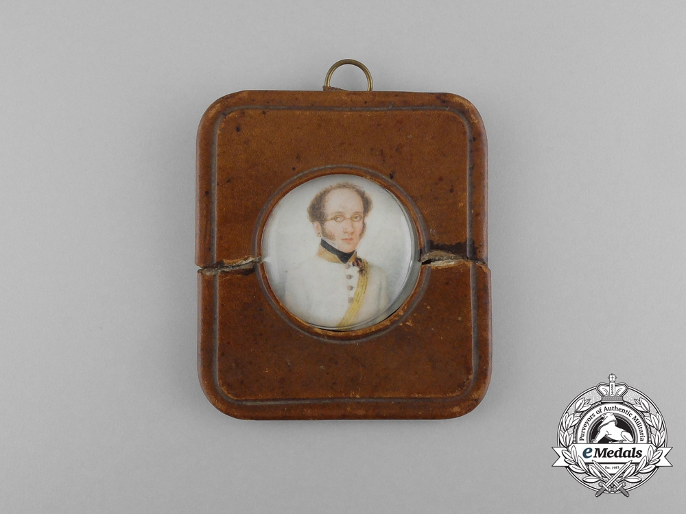 eMedals-Russia, Imperial. A Napoleonic Officer's Miniature Portrait, c.1810