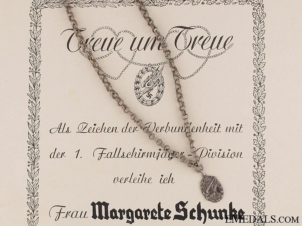 eMedals-Fallschirmjäger Loyalty Chain & Certificate