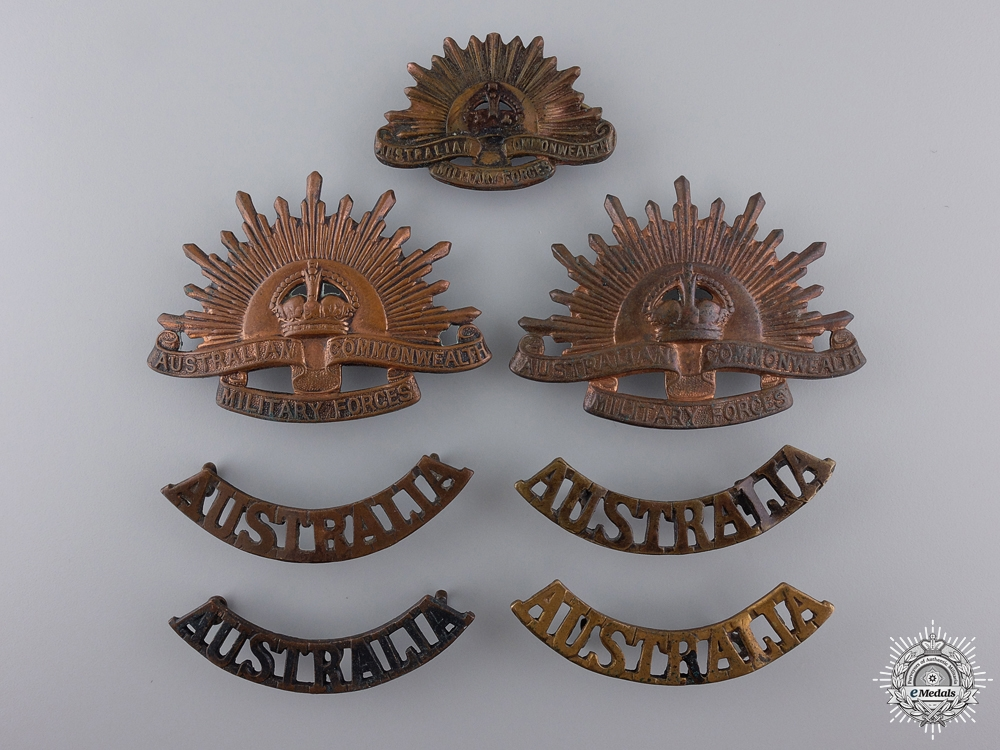 eMedals-First War Australian Imperial Force Badges