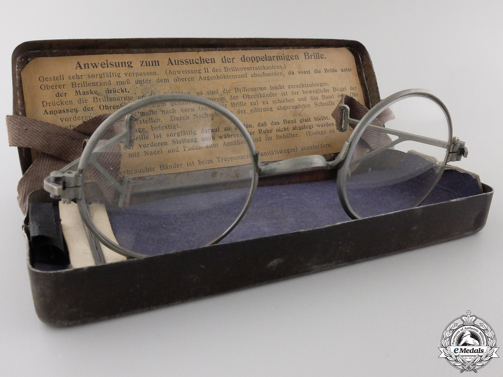 "eMedals-First War German ""Maskenbrille"" Eyeglasses for Gas MasksConsign #4"