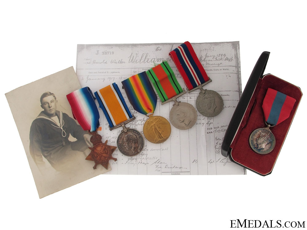 eMedals-First War Naval Group to SIG. BOY. Williamson