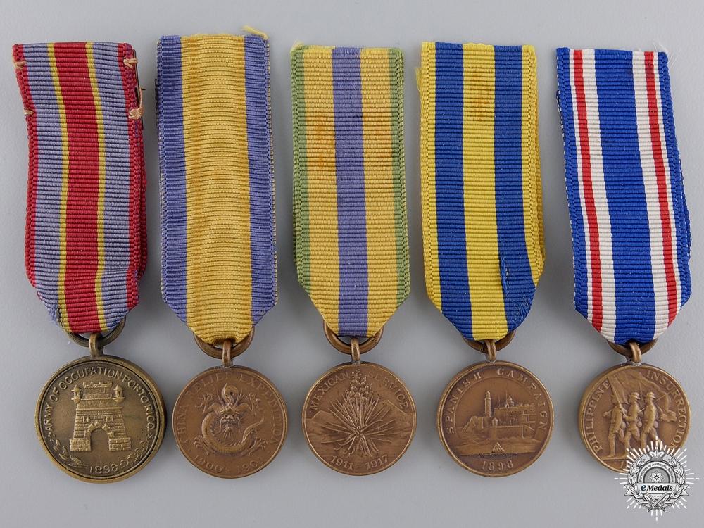 eMedals-Five American Miniature Campaign Medals